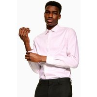 Mens Premium Pink And White Stripe Slim Shirt, Pink