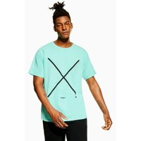 Mens Jog On Mint Over Dye T-Shirt*, Mint