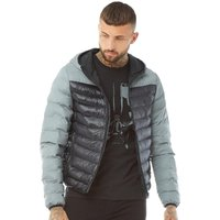 Brave Soul Mens Grant Padded Jacket Black/Reflective