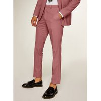 Mens Pink Oxford Skinny Trousers, Pink