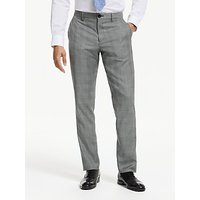 PS Paul Smith Prince of Wales Check Tailored Fit Suit Trousers, Grey