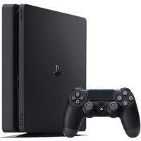 Sony PlayStation 4 Slim Console with DUALSHOCK 4 Controller, 500GB, Jet Black