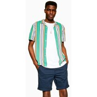 Mens Selected Homme Navy Organic Cotton Shorts, Navy