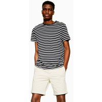 Mens Selected Homme Stone Organic Cotton Shorts, Stone