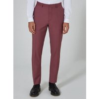 Mens Purple Mauve Skinny Fit Suit Trousers, Purple