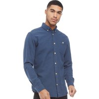 JACK AND JONES Mens Portland Long Sleeve Shirt Total Eclipse