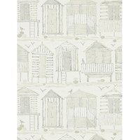 Sanderson Beach Huts Wallpaper