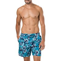 Speedo Vintage Paradise Print 16 Swim Shorts, Blue