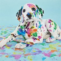 Woodmansterne Dalmation In Paints Greetings Card