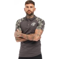 Crosshatch Mens Lookers Polo Dark Charcoal