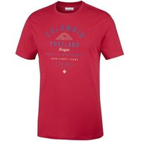 Columbia  Leathan Trail  men's T shirt in Red
