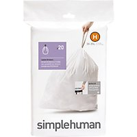 simplehuman Bin Liners, Size H, Pack of 20