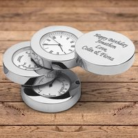 Personalised Engraved Weather Station Clock WEA04