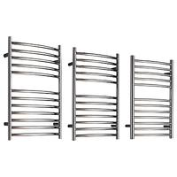 John Lewis & Partners Sandsend Central Heated Towel Rail and Valves, from the Floor