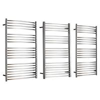 John Lewis & Partners Whitsand Dual Fuel Heated Towel Rail and Pipes, from the Wall