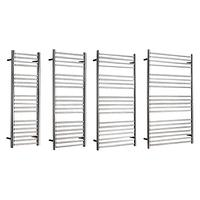 John Lewis & Partners Compton Dual Fuel Heated Towel Rail and Valves, from the Wall