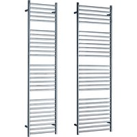 John Lewis & Partners Brook Central Heated Towel Rail and Valves, from the Wall