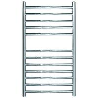 John Lewis & Partners Sandsend Dual Fuel Heated Towel Rail and Valves, from the Wall