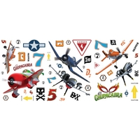 Graham & Brown Planes Budget Stickers, Brown