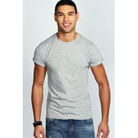Crew Neck T Shirt - grey marl