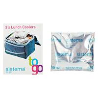 Sistema Lunch Coolers Ice Packs, Set of 3