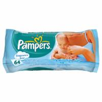 Pampers Baby Wipes Fragrance Free Single Pack x 64