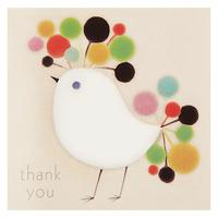 Woodmansterne Bird With Colourful Head Thank You Card