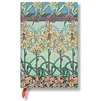 PaperBlanks Mucha Tiger Lily Mini Multi Lined Journal