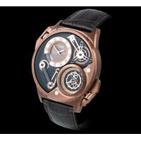 Dualtron Leather Dual Time Special Edition Men's Watch