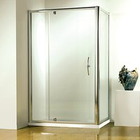 John Lewis & Partners 76 x 76cm Shower Enclosure with Pivot Door and Side Panel