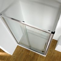 John Lewis & Partners 120 x 80cm Shower Enclosure with Straight Sliding Door