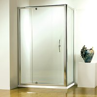 John Lewis & Partners 120 x 80cm Shower Enclosure with Pivot Front Door