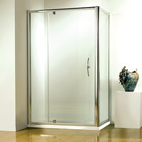 John Lewis & Partners 80 x 80cm Shower Enclosure with Pivot Door and Side Panel