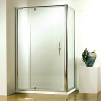 John Lewis & Partners 80 x 80cm Shower Enclosure with Pivot Front Door