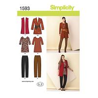 Simplicity Womens' Coordinates Sewing Pattern, 1593