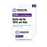 HP Instant Ink Enrollment card - 300 pages per month