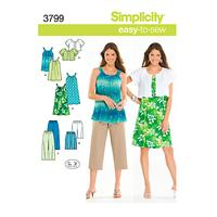 Simplicity Easy to Sew Summer Outfit Sewing Pattern, 3799