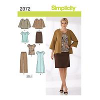 Simplicity Womens' Coordinates Sewing Pattern, 2372