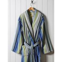 Christy Supreme capsule stripe robe medium blue