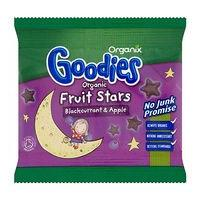 Organix Goodies Organic Fruit Stars Blackcurrant & Apple for Toddlers from 12+ Months 12g