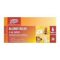 Boots Allergy Relief 4mg Tablets Chlorphenamine Maleate - 30 tablets (6 years +)