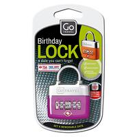 Go Travel TSA Approved Birthday Padlock, Assorted Colours