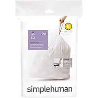 simplehuman Bin Liners, Size E, Pack of 20