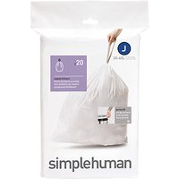 simplehuman Bin Liners, Size J, Pack of 20