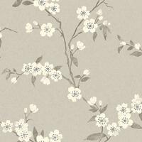 John Lewis & Partners Cherry Blossom Wallpaper, Putty