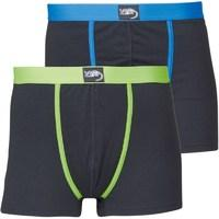Kangaroo Poo Mens Two Pack Boxers Black/Lime