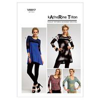 Vogue Katherine Tilton Women's Top and Tunic Sewing Pattern, 8817