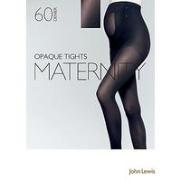 John Lewis 60 Denier Opaque Maternity Tights, Black