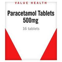 Value Health Paracetamol 500mg Tablets - 16 Tablets