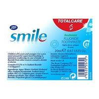 Boots Smile Total Care toothpaste 20ml